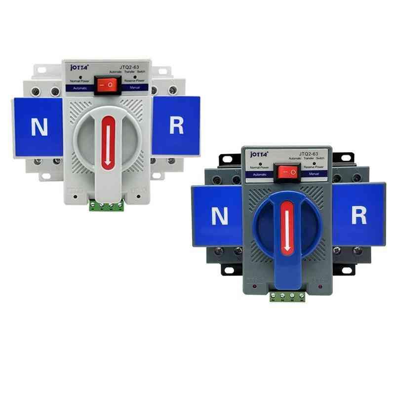 2p 63a 220v/110v  Mcb Type White/blue Dual Power Automatic Transfer Switch