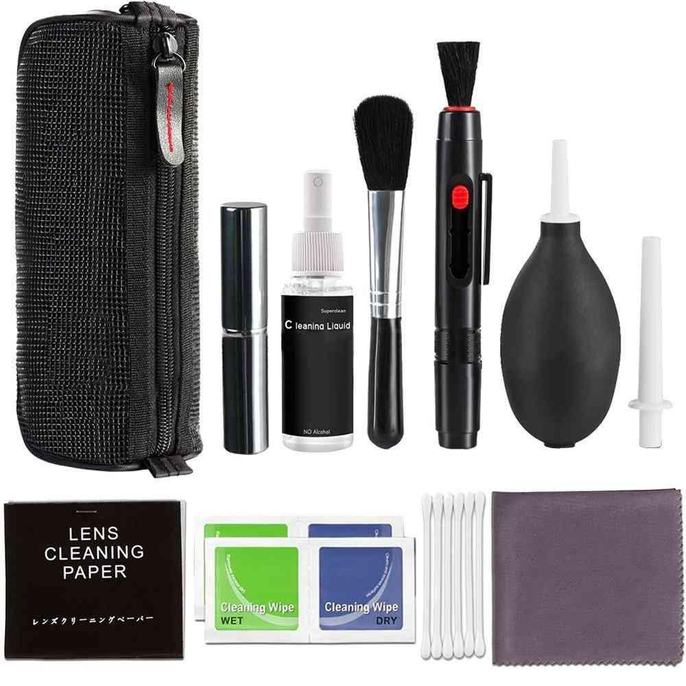 Professional Dslr Lens Camera Cleaning Brush Set Spray Bottle Lens Pen Brush (white)
