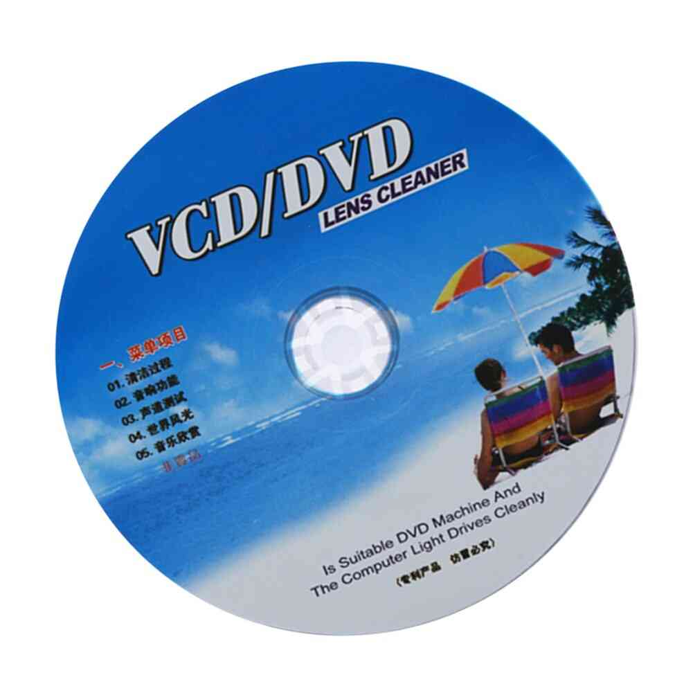 Cd/ Vcd/ Dvd Player Lens Cleaner, Dust Removal Cleaning, Fluids Disc Restore Kit (1)