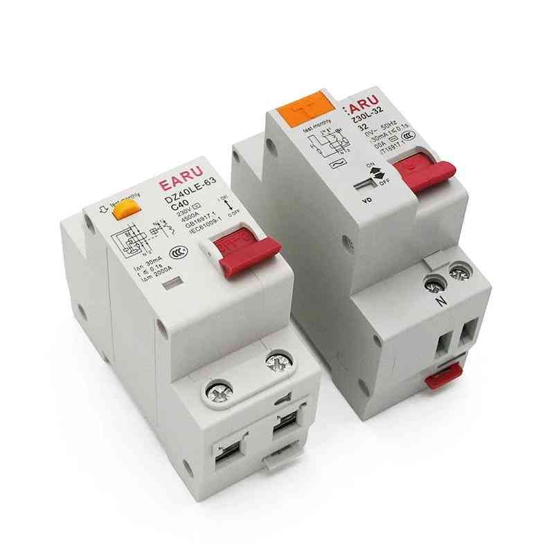 1p+n Residual Current, Circuit Breaker With Over And Short Current, Leakage Protection
