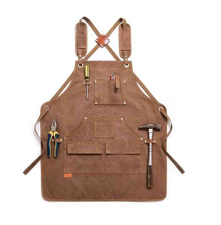 Heavy Duty- Canvas Work Apron With Tool Pocket