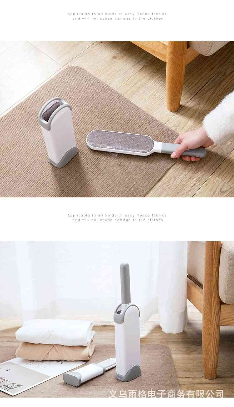 Portable- Electrostatic Double-sided, Hand-held Clothes, Hair Remover Device
