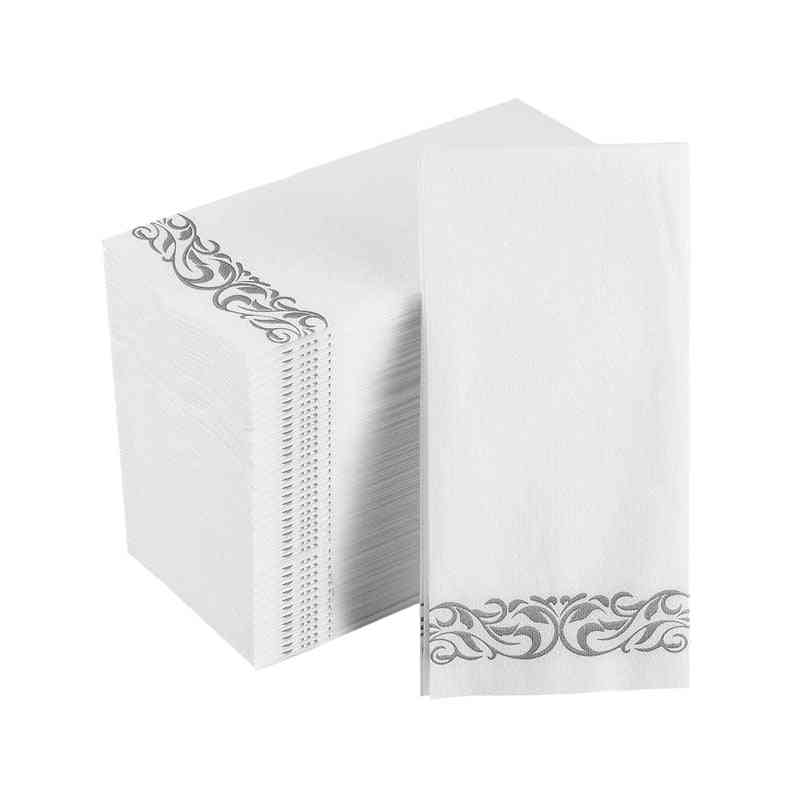 Disposable Hand Paper, Soft And Absorbent Linen-feel Hand Napkins