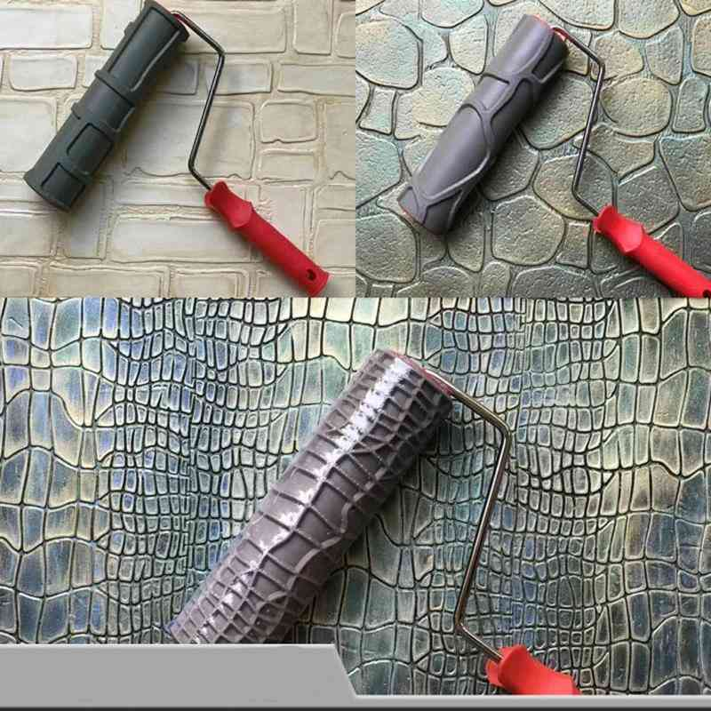 Pattern Paint Roller, 10 Inch Environmental Protection Stamp Decorative Cylinder