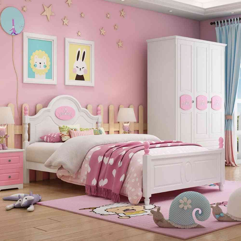 European Style Solid Wood Kids Beds