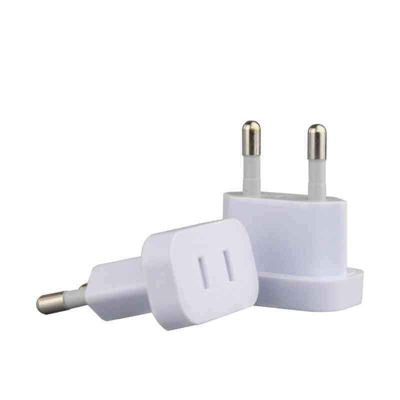 Us To Eu Euro Plug Converter 2 Round Ac Travel Adapter American Us To Eu Electrical Socket (eu 4.0pin)