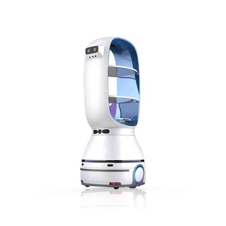 Usd Leeno T1 Food Delivery Robot Auto-charge For Restaurant Hospital And Hotel