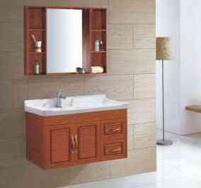 Aluminum- Small Wall Mounted, Space Cabinet, Washroom Ceramics Basin