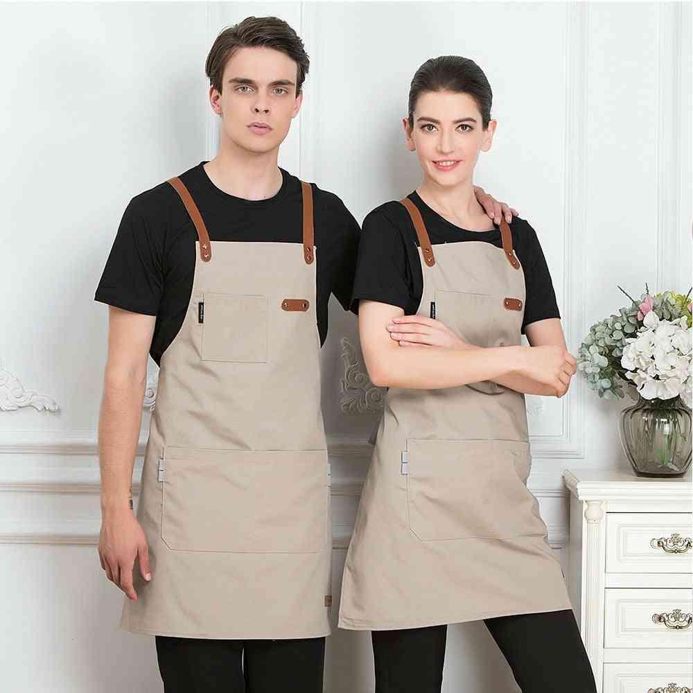 Chef Cook- Kitchen & Coffee Shop, Hairdresser, Sleeveless Bib, Clothing Antifouling Aprons