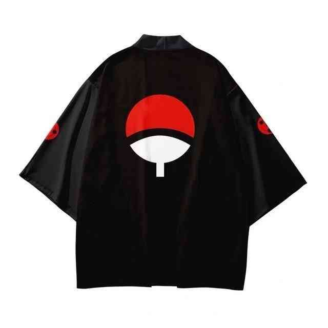 3d Printing- Japanese Kimono, Summer Casual, Short Sleeve, Streetwear Jacket Set-6