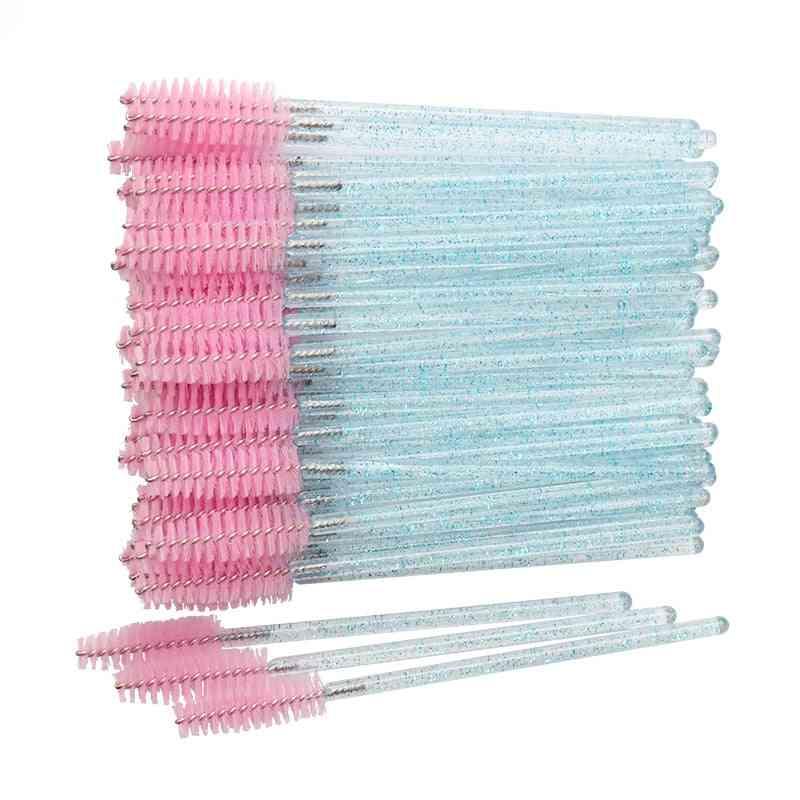 Cosmetic Eyelash Brush, Crystal Mascara Wands Applicator Diamond Eyelashes Tools
