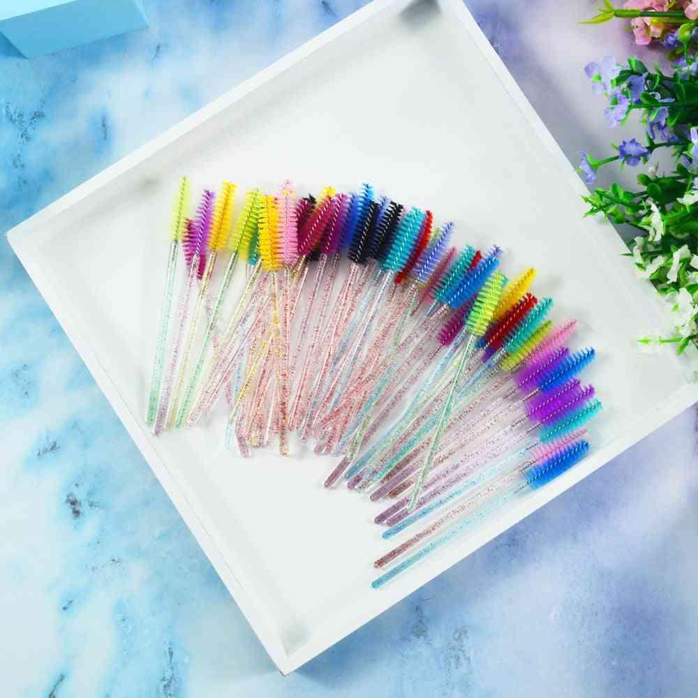 Eyelash Brush, Individual Disposable Mascara Applicator Comb Tools