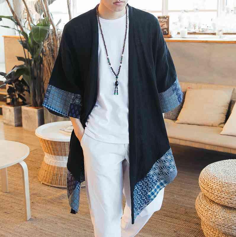 Japanese Kimono Cardigan Male Samurai Clothing / Jacket / Shirt