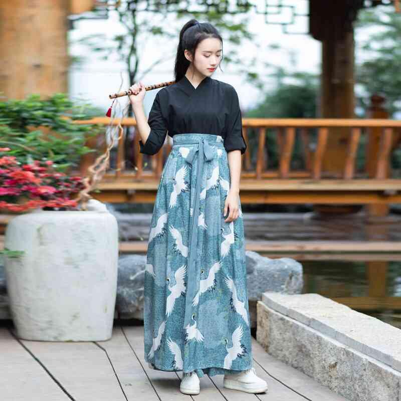 Kimono Dress Women Haori Japanese Style Kawaii Crane Sakura Yukata Vintage Party Japan Dance