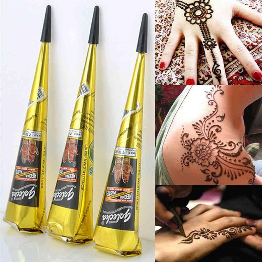 Indian Henna Tattoo Paste Cone Body Paint Temporary Mehndi Henna Tattoo Art Sticker