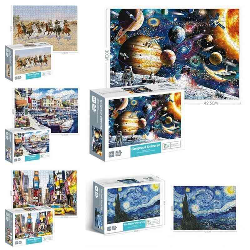 1000 Pieces Adult Jigsaw Montessori Paper Puzzle