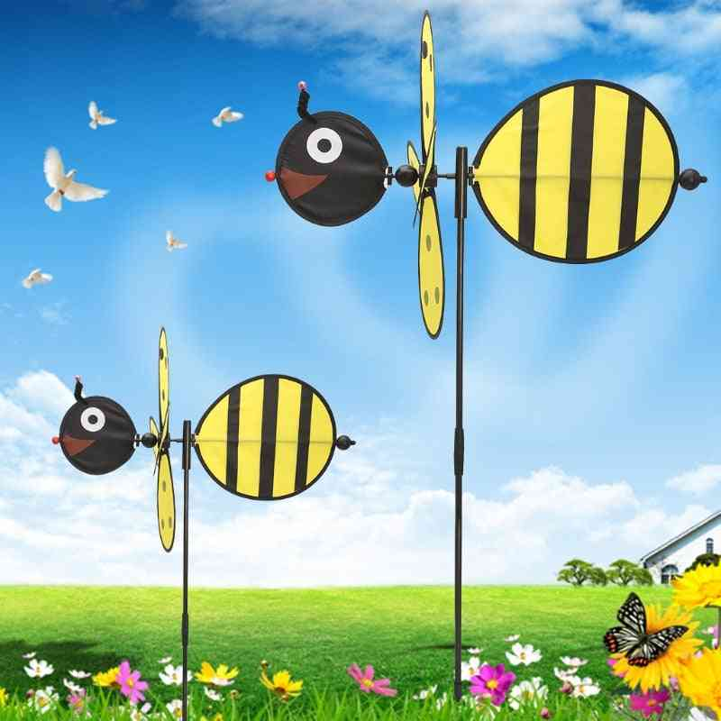 Large Bee- Windmill Whirligig, Wind Spinner Toy For Home Yard Garden Decor