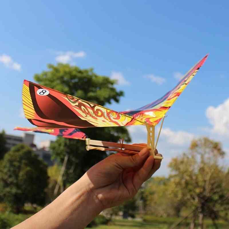 Elastic Rubber Band Powered Flying Birds Kite