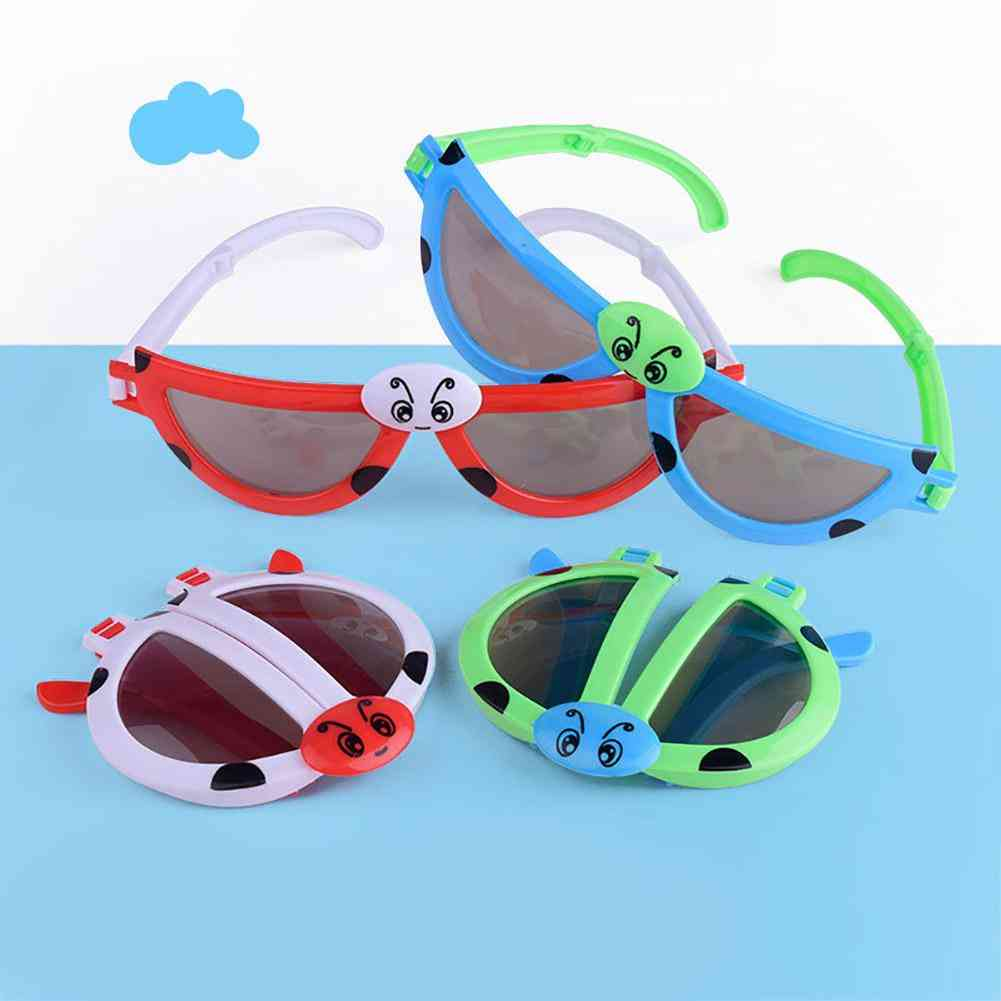 Foldable Kids Cartoon Sun Glasses  (random Color)