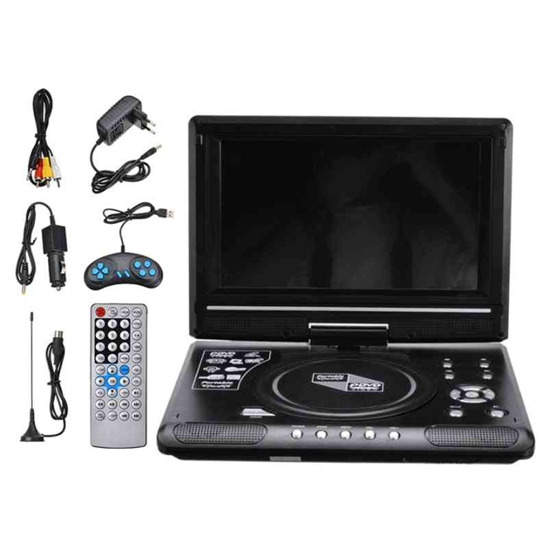 Portable Home Car- Dvd/ Vcd/ Cd Game, Tv Player Usb, Radio Adapter