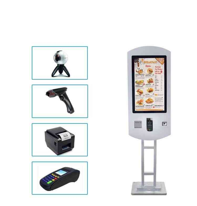 Tft Lcd- Touch Screen, Restaurant Wifi, Fast Food Ordering Kiosk