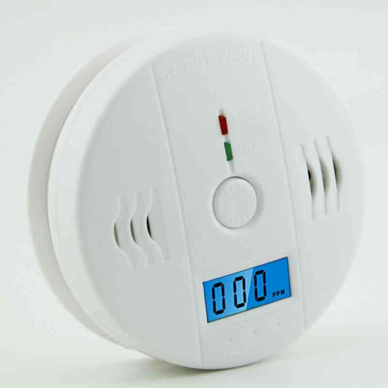 Co Gas Sensor Carbon Monoxide Poisoning Alarm Detector, High Sensitive Home Security 85db Warning Lcd Photoelectric Independent
