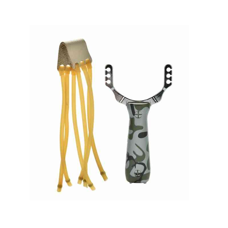 Slingshot Aluminum Catapult Marble Hunting Camouflage Bows Hunt Rubber Band Outdoor Games