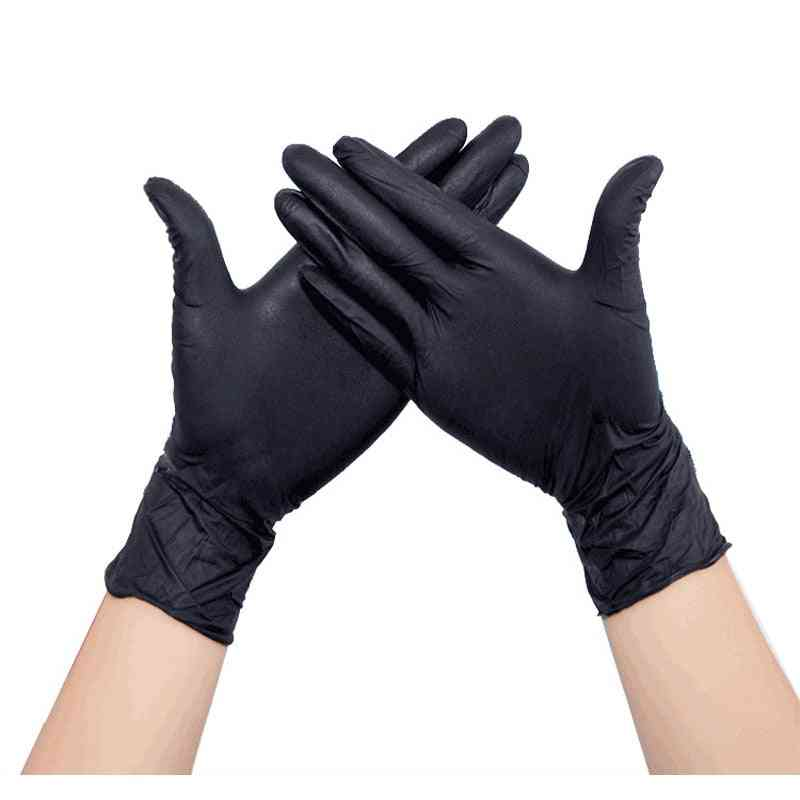 Latex Nitrile Disposable Black White Gloves Kitchen Protective Work  Hand Household Cleaning Products Garden Accessories House