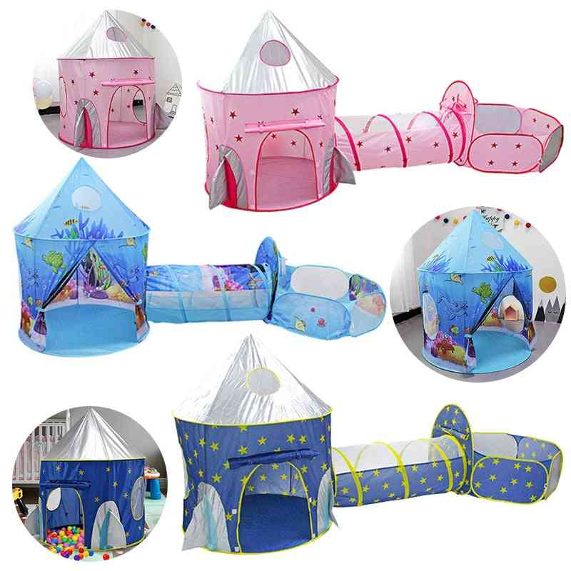 Child Tunnel Spaceship 3 In 1 Tent House Play