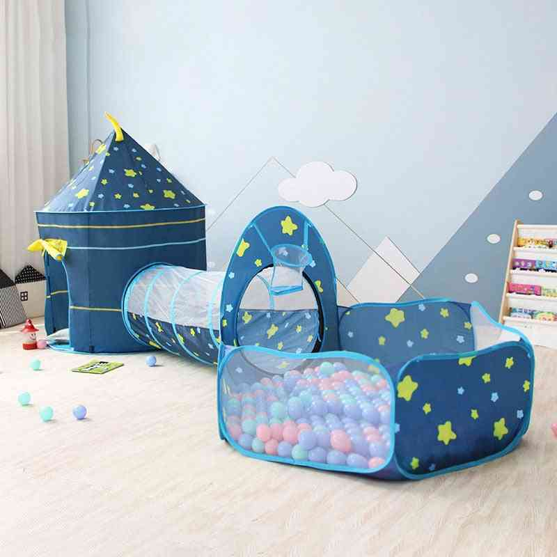 3 In 1 House Toy, Ball Pool Portable Tipi Tents