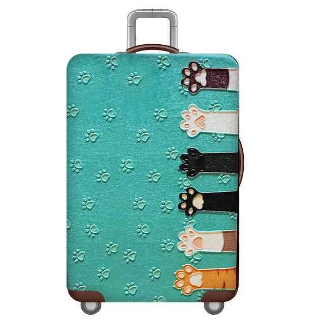 World Map Design Luggage Suitcase