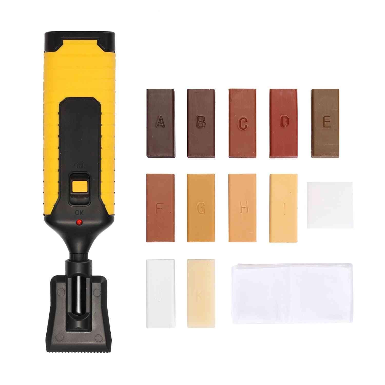 Laminate Flooring Repair Kit, Floor Repairing Wax System, Worktop Sturdy Casing Chips, Scratches Mending Tool