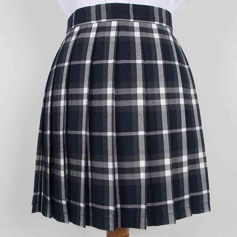 School Dresses Plaid Pleated Short Skirts For