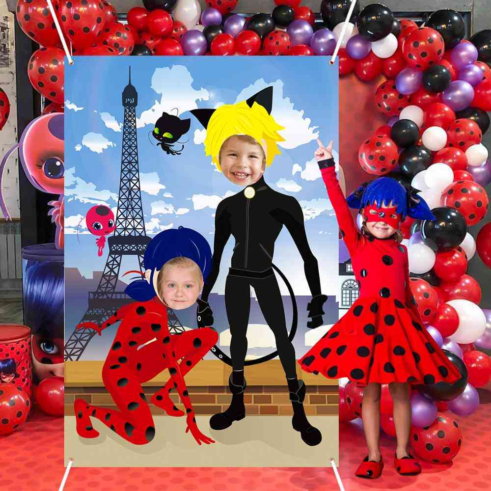 Photography Background Theme Birthday Party Decorations With Ribbon