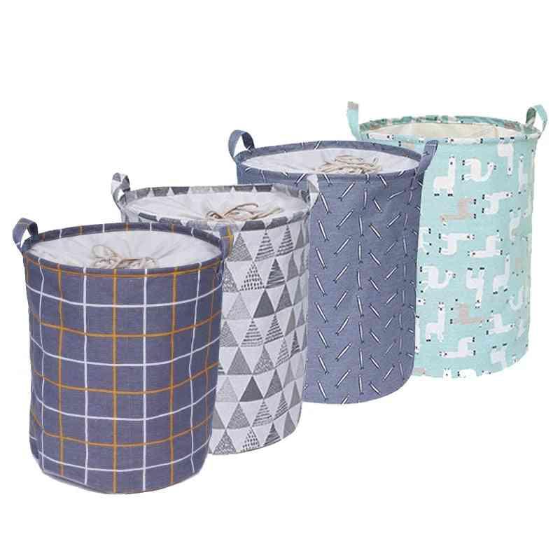 Folding Laundry Basket, Storage Barrel Standing Clothing Bucket, Organizer