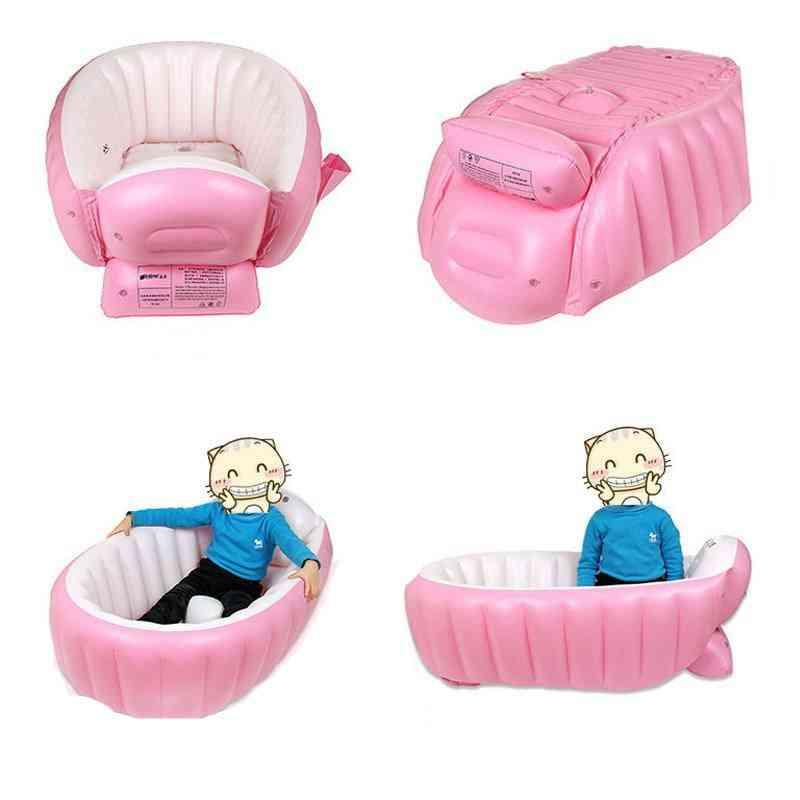 Inflatable Baby Swimming Pool Bath Tub Kids Portable Outdoor Basin Newborns