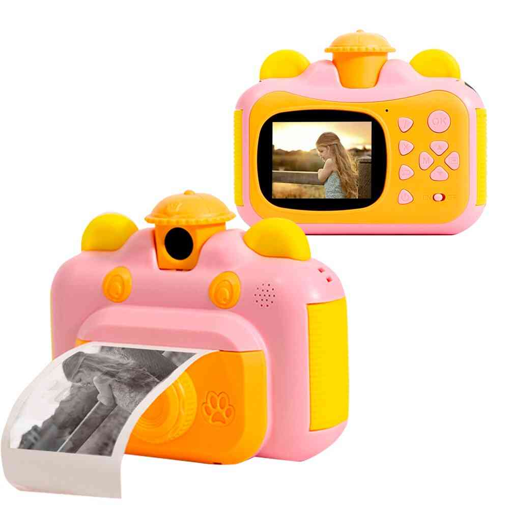 Instant Print Camera For Kids With Print Paper