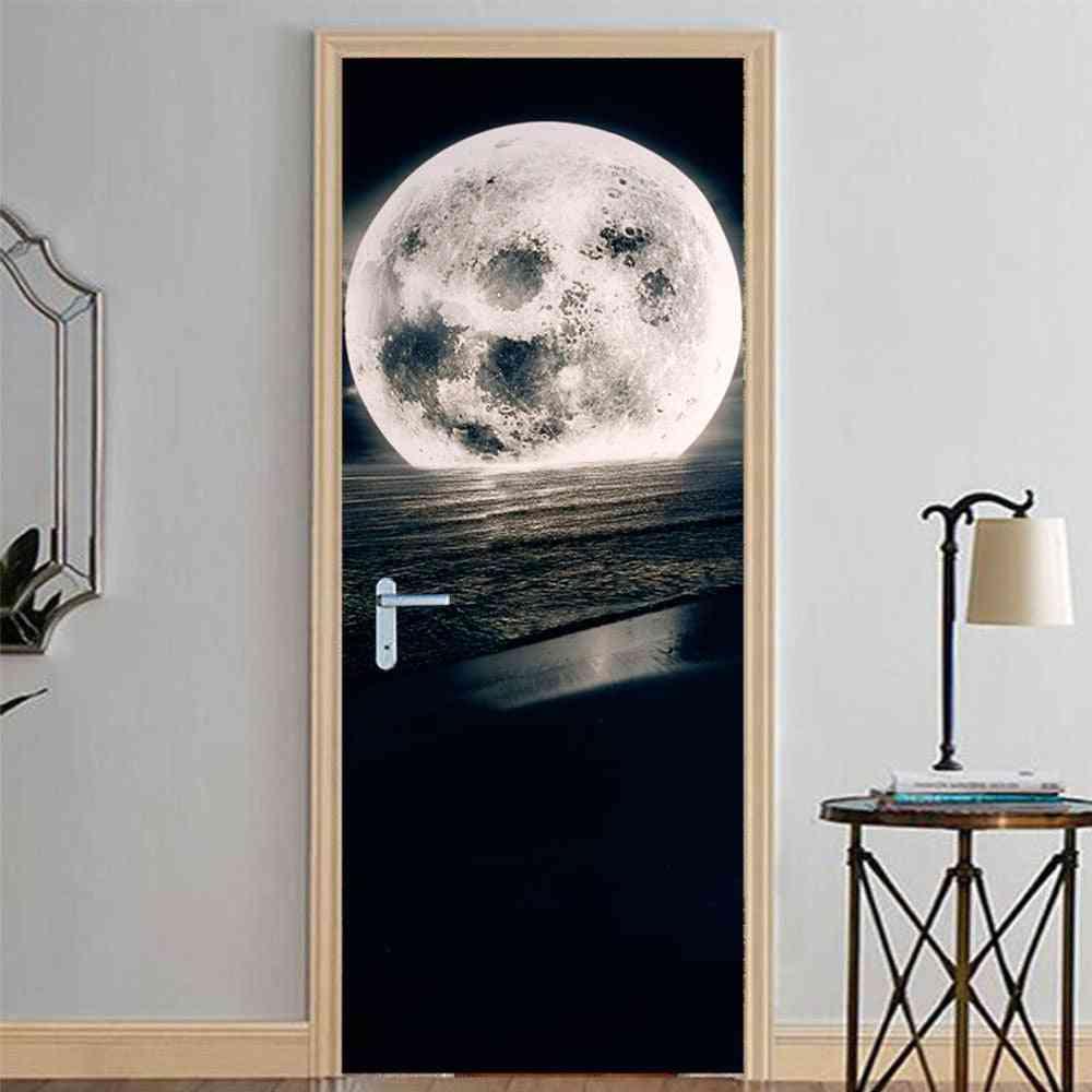 3d Wallpaper Modern Design Self-adhesive Waterproof Door Sticker