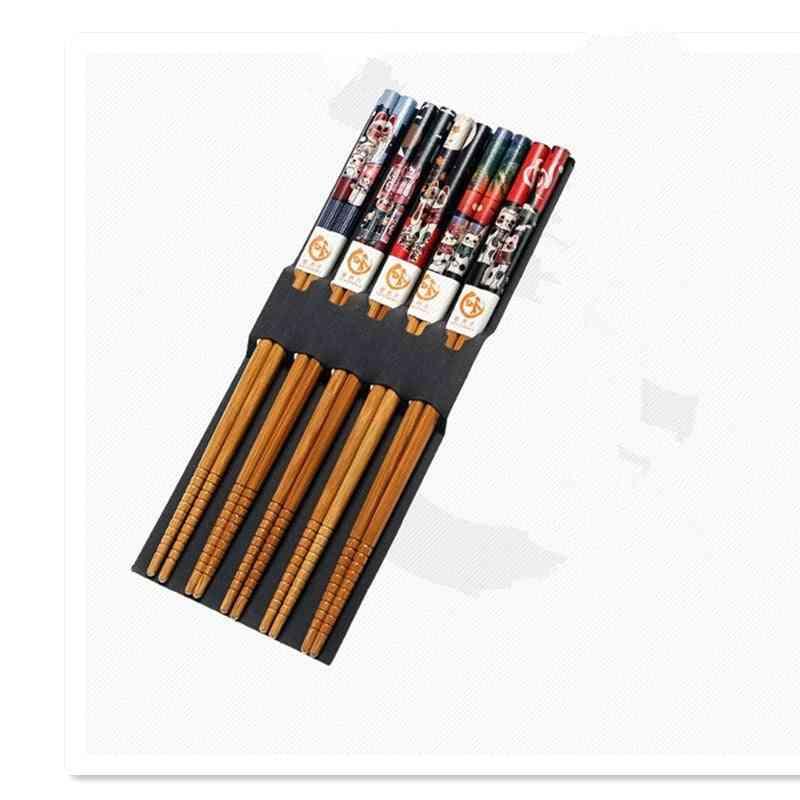 Reusable Handmade Bamboo Japanese Natural Wood Chopsticks
