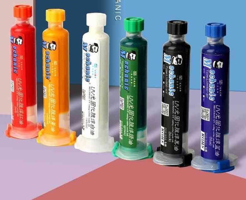 Uv Light Curing Bga Pcb Solder Mask Ink / Welding Oil Paint Prevent Corrosive Arcing