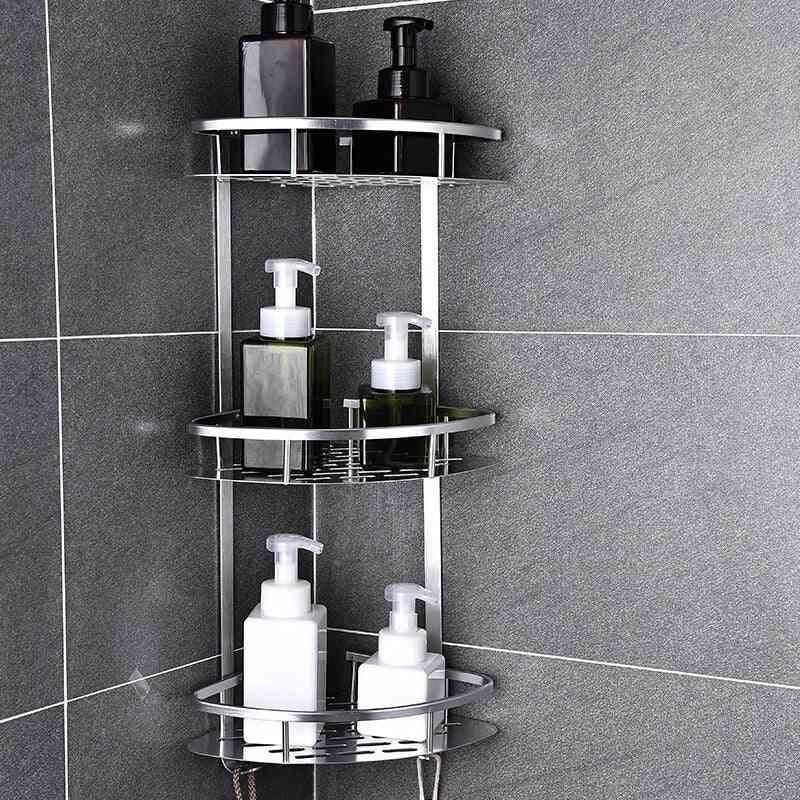 Space Aluminum Bathroom Shelf, Kitchen Storage Basket
