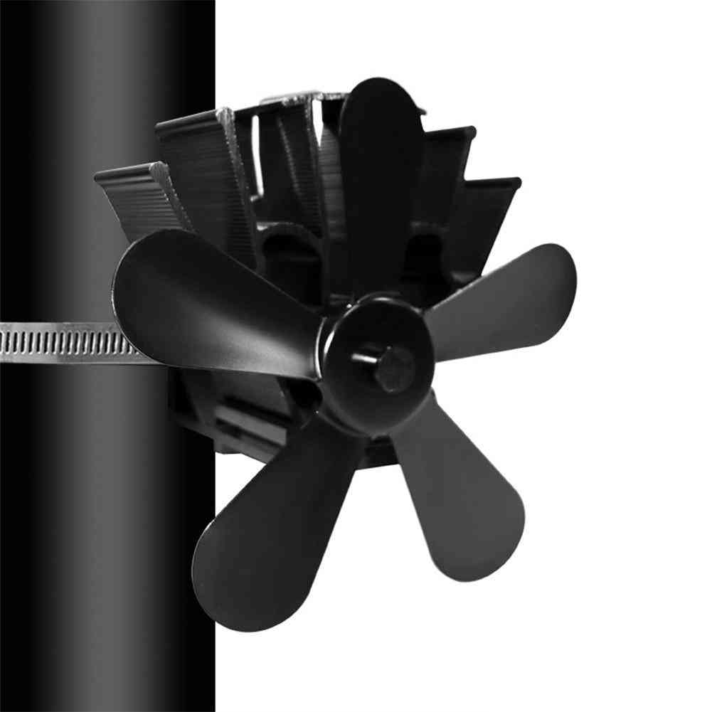5 Blade Heat Powered Stove Fan