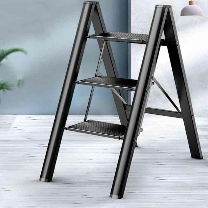 Ultra-thin Multifunctional Folding Ladder Household Herringbone Ladder Indoor Thick Aluminum Alloy Rack Stool