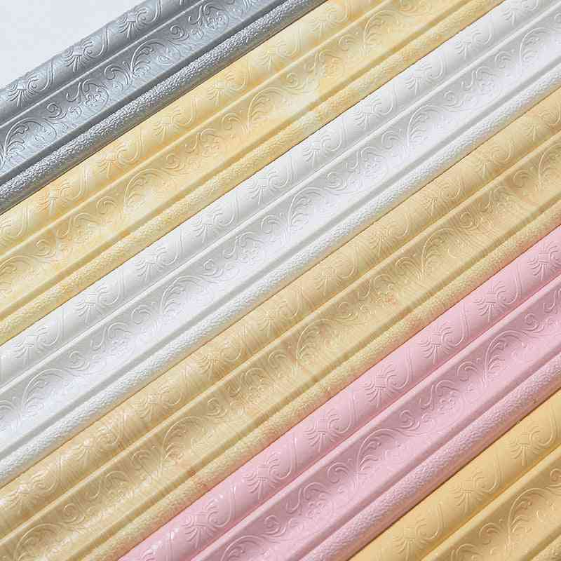 3d Marble Self-adhesive, Pvc, Waterproof, Baseboard Wallpaper For Walls, Roll Kick Waist Line Wall, Living Room Baseboard