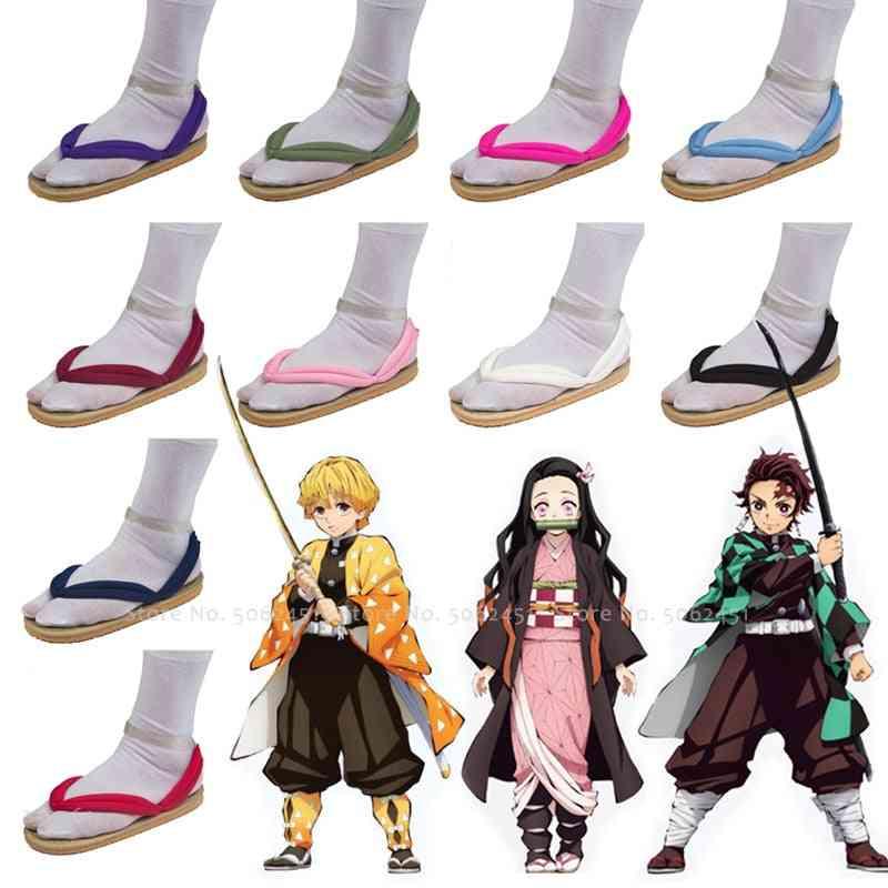 Anime Cosplay, Geta Clogs Demon, Slayer Flip-flops Sandals Set-2