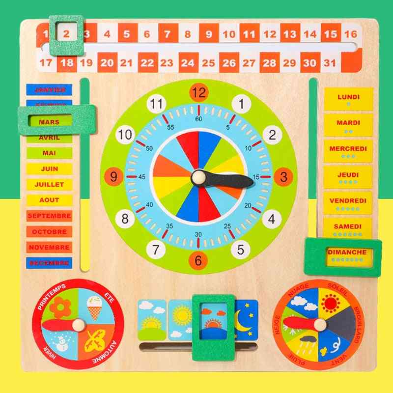 Baby Wooden Board Game, Weather/season/time Cognitive Puzzles