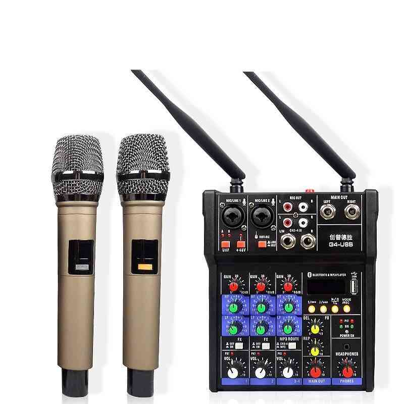 Professional Dj Audio Mixer Sound Music Mixing Device With Microphone