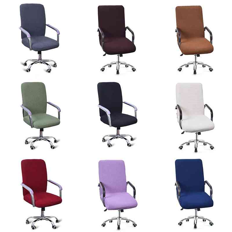 Modern Spandex Computer Chair Cover, 100% Polyester Elastic Fabric
