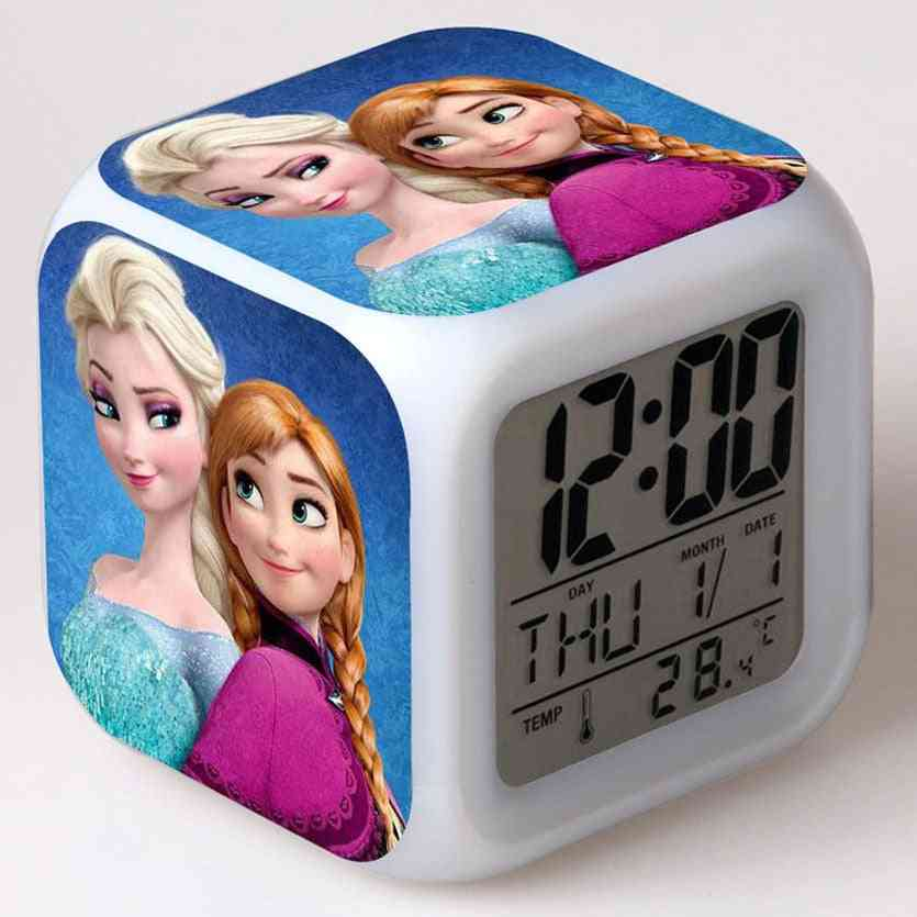 Alarm Clock Digital Display, Cute Cartoon, Kids Led Electronic Gadgets