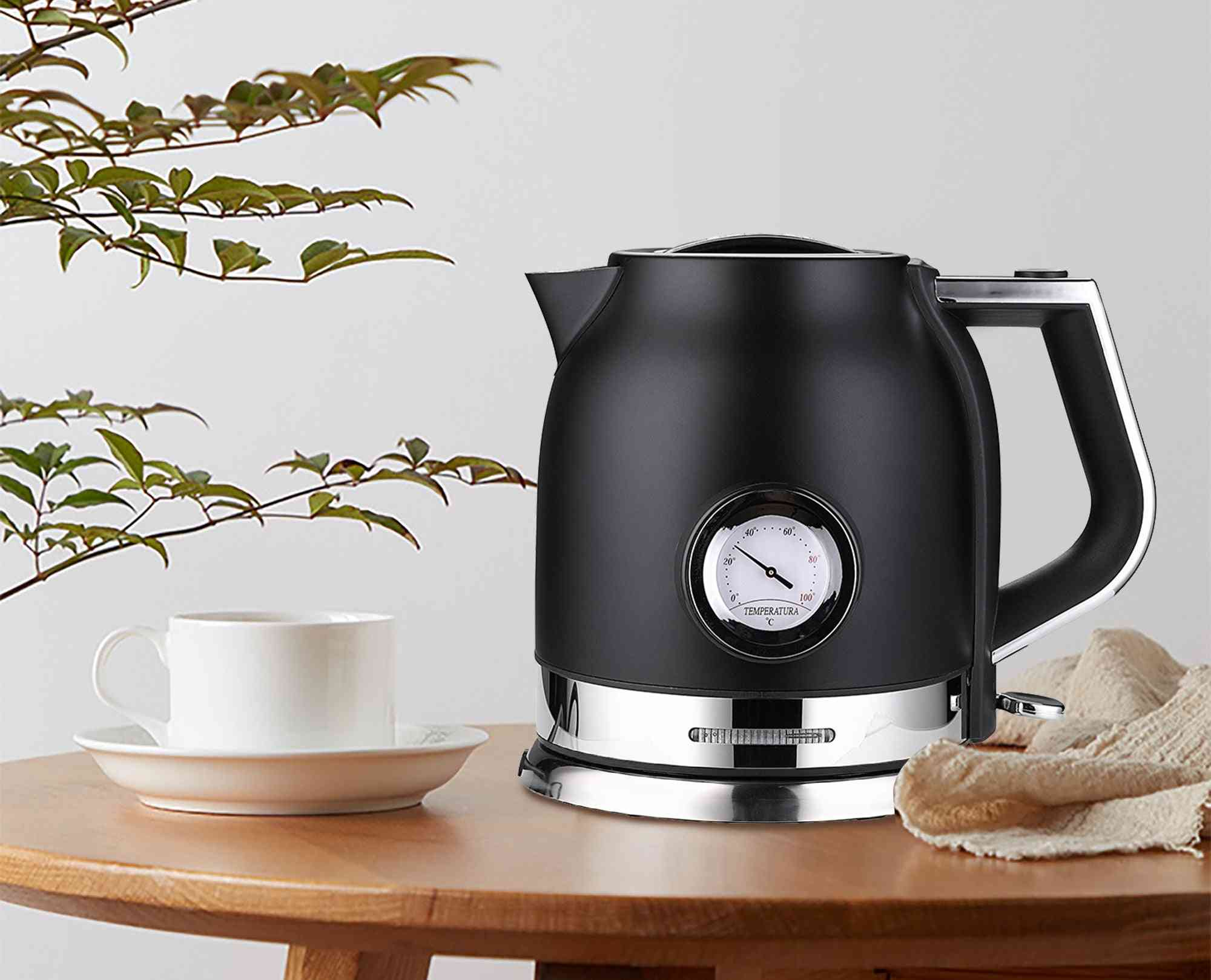 Stainless Steel, Kitchen Smart Whistle, Samovar Tea Pot With Water Temperature Control Meter